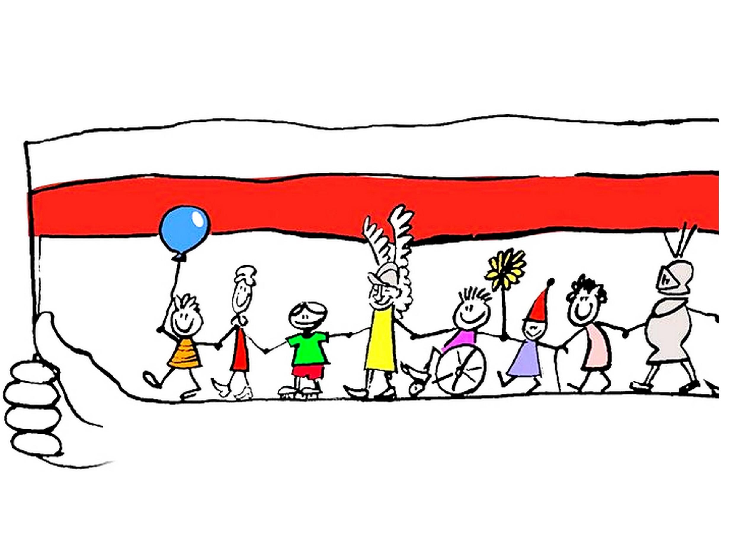 Ilustracja do informacji: Patriotyczne rysowanie