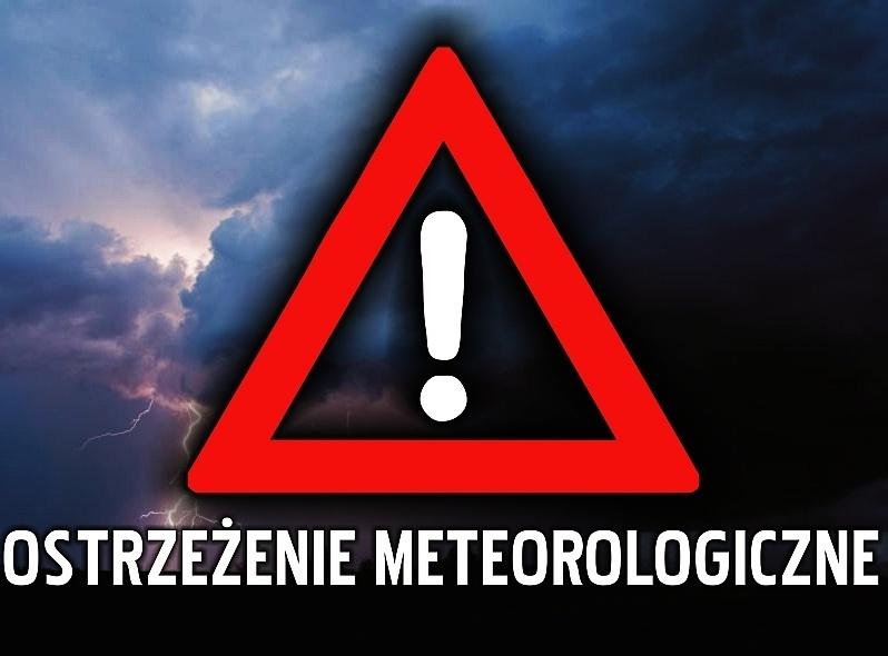 Ilustracja do informacji: Ostrzeżenie przed burzami z gradem